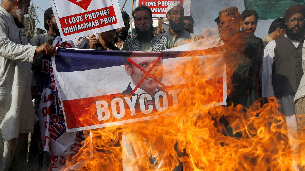 Islamic countries boycott French products