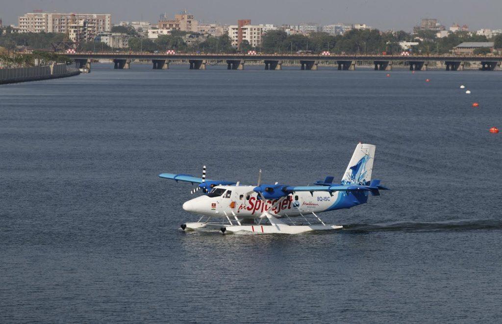 SpiceJet-Seaplane-Service-Sabarmati-Riverfront-Statue-Of-Unity
